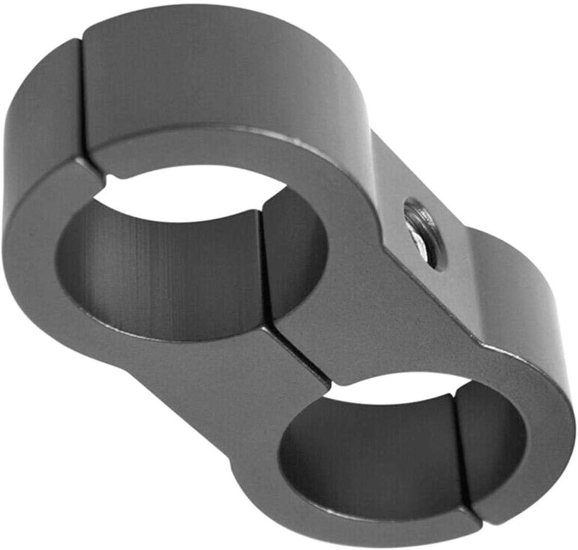 Z-KOKO 2pcs for 20MM Car Braided Hose Clamp Spark Plug Wire Hose Separator Clamp AN8 Sliver