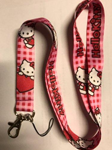 Hello Kitty Lanyard keychain Charm ID Holder 07