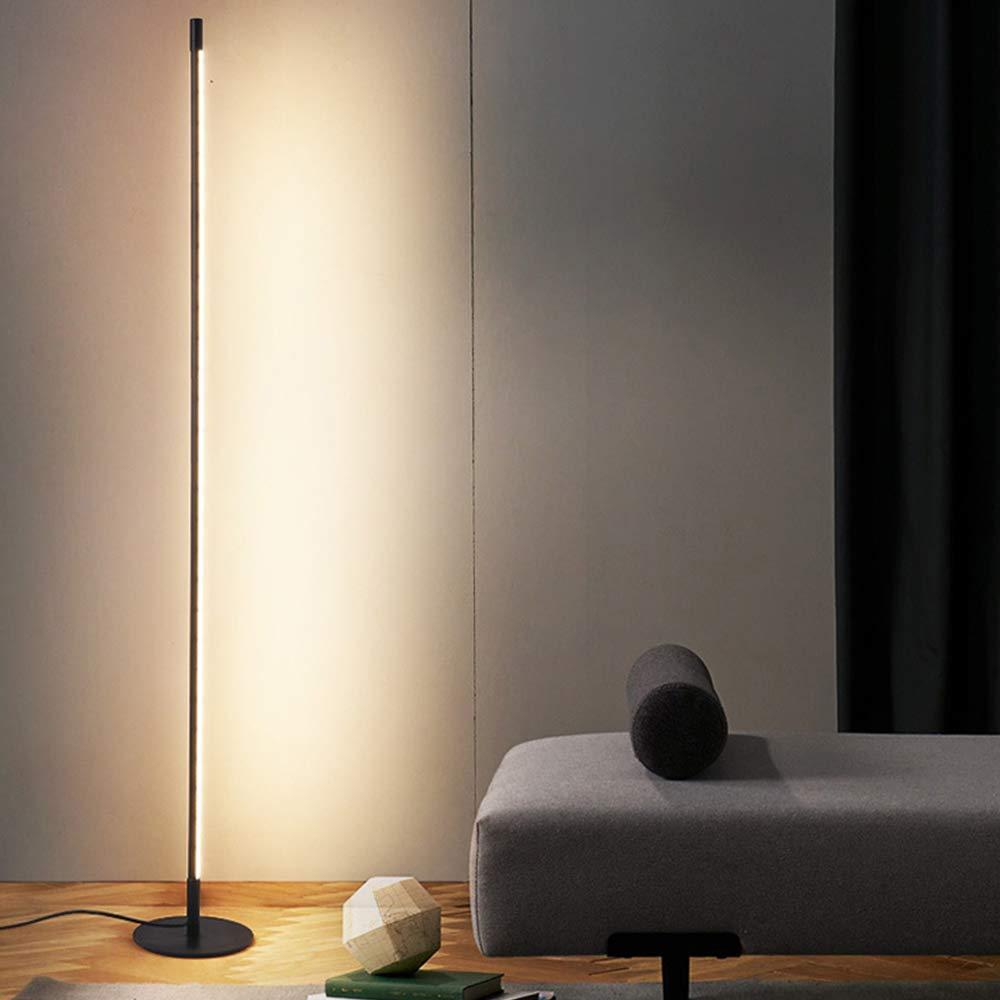 UFLIZOGH Stehlampe LED Dimmbar moderne 15W Stehleuchte 15CM 15  Farbtemperaturen 15000 Kelvin 15 Lumen Augenschutz Bodenleuchte für  Wohnzimmer
