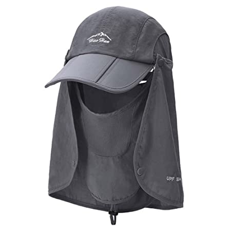7fd55b2497002 JIU Caps Hats Sun protection cap Men s summer outdoor Fishing cap Visor  Collapsible Casual Women s Holiday