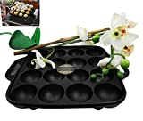 Personal Size Traditional Cast Iron Japanese Takoyaki And Dessert Cake Cooking Plate Pan