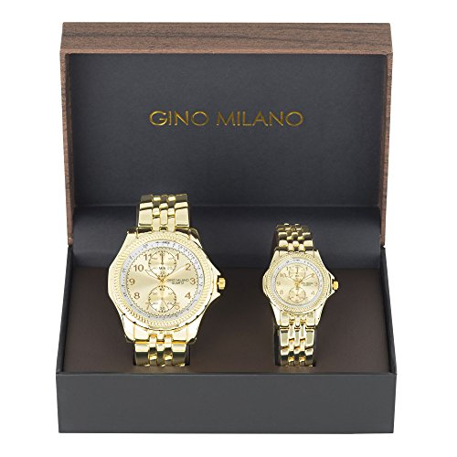 cfa8aed10a5a His and Her Watch Sets - 2 Piece Matching Gift Set by Gino Milano with Gift
