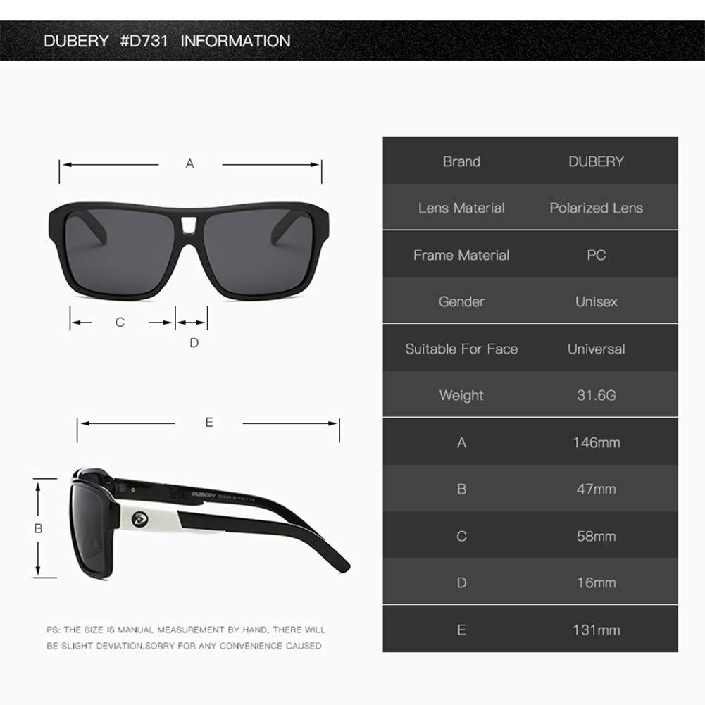 GMACCE Ultra Ligero Gafas de Sol rectangulares polarizadas ...