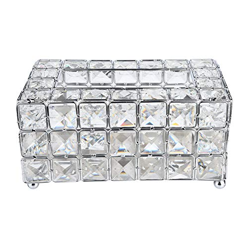 - Micozy Crystal Tissue Box Creative Scents Tissue Box Handmade Square - Decorative Bathroom Tissues Holder for Car Bathroom, Bedroom or Office