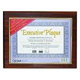 NuDell 13 x 10.5 Inches Prestige Executive Award Plaque, Walnut (18851M)
