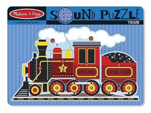 (Melissa & Doug Train Theme Sound Puzzle & 1 Scratch Art Mini-Pad Bundle (00729))