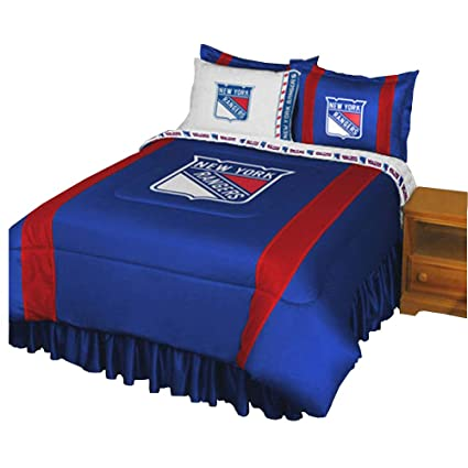 Marvelous NHL New York Rangers Comforter And Sheets 4 Pc Twin Bedding Set
