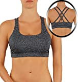 ROUGHRIVER Women's Yoga Bra Sports Top Features a Criss Cross Straps Back (XL, RR/33-GRY) Review
