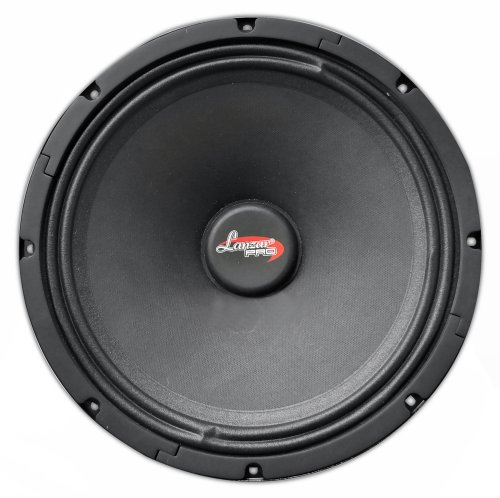 "12' 400w Subwoofer (Lanzar Upgraded 12"" High-Power Performance Midbass - 400 Watt  Speaker 45-4.8kHz Frequency Response 80 Oz Magnet Structure 4 Ohm 2"" Temperature Kapton Voice Coil w/ 94.50dB Sensitivity - Lanzar PROHEMID12)"