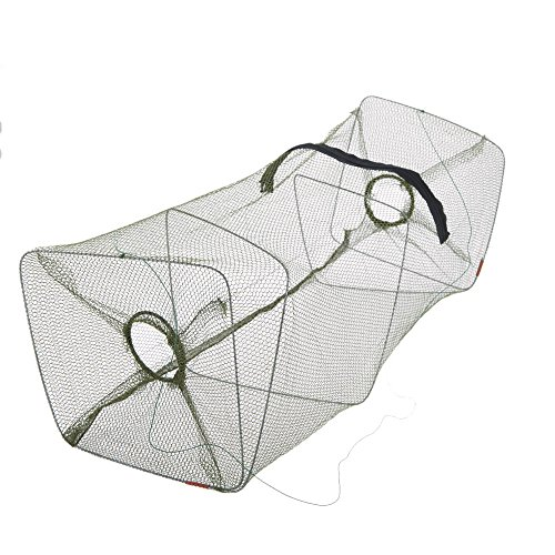 EverTrust(TM) 50 * 21 * 21cm Foldable Nylon Fishing Crab Trap Fishing Net Shrimp Minnow Crawdad Fish Trap Bait Cast Dip Fyke Net Rede De Pesca