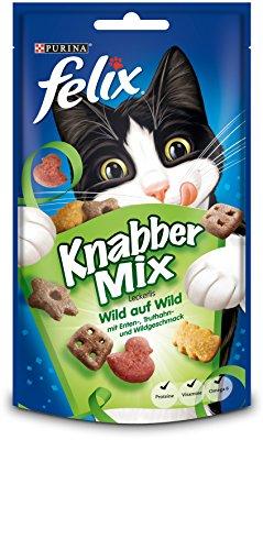 Felix Knabbermix Katzensnack Wild, 8er Pack (8 x 60 g)