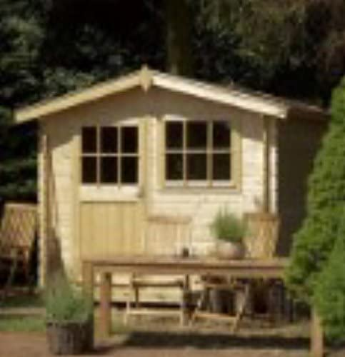 Outdoor Life Gina 250 - Caseta de jardín (290 x 290 cm, 28 mm, madera): Amazon.es: Jardín
