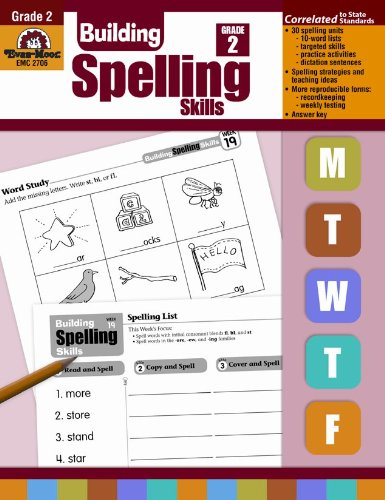 Workbook first grade worksheets pdf : Amazon.com: Building Spelling Skills, Grade 2 (0023472027061 ...
