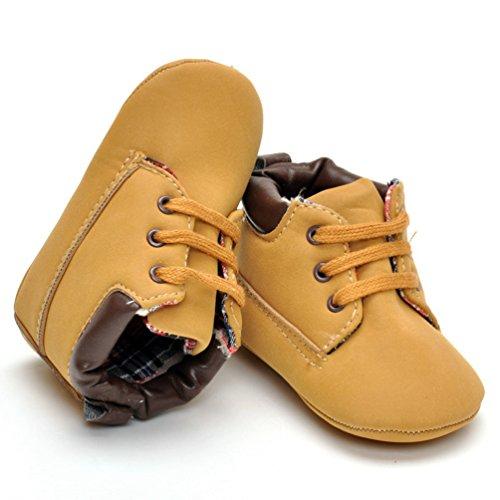 CHENGYANG Baby Mädchen Jungen Weichen Sohle Schuhe Sneakers Casual Schuhe Lauflernschuhe Krippeschuhe Babyschuhe Khaki#07