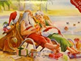 Paper Magic Santa & Mrs Claus Relaxing on the Beach Christmas Cards