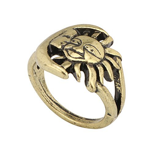 Accessorisingg GOT Sun and Moon Bronze Ring [RG046]