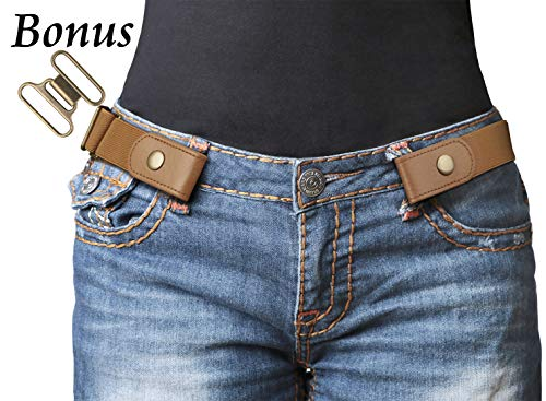No Buckle Stretch Belt For Women/Men Elastic Waist Belt Up to 48