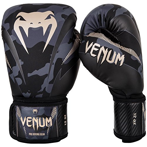 Venum Impact Boxing Gloves - Dark Camo/Sand - 14oz