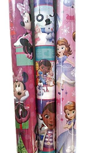 3 PK - Girl's Disney Junior Christmas Wrapping