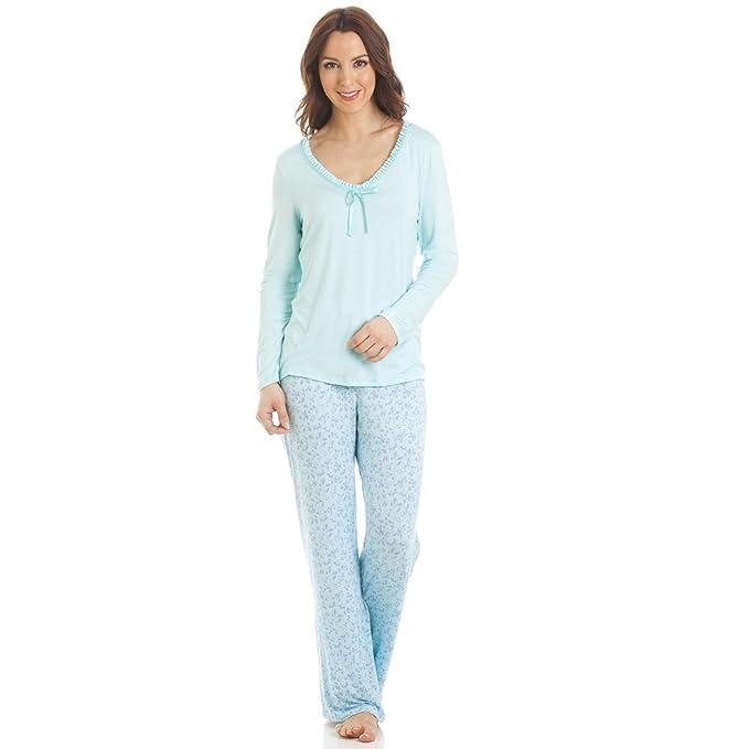 Camille manga larga de estampado de flores pijama conjunto: Amazon.es: Ropa y accesorios