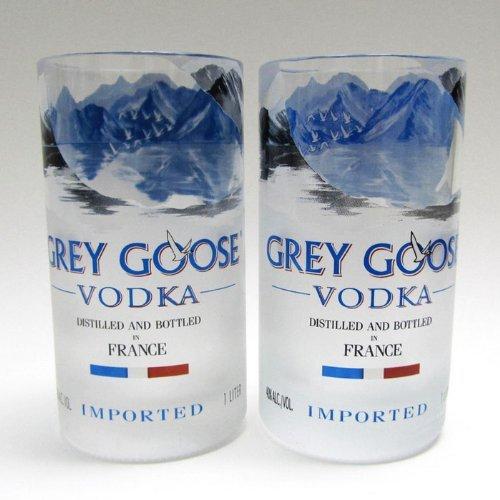 Grey Goose Vodka Bottle Tumblers - Set of Two