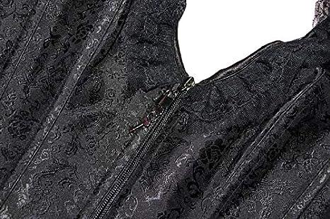 ZAMME Womens Black Halter Corsets Body Shapewear Bustier Cincher