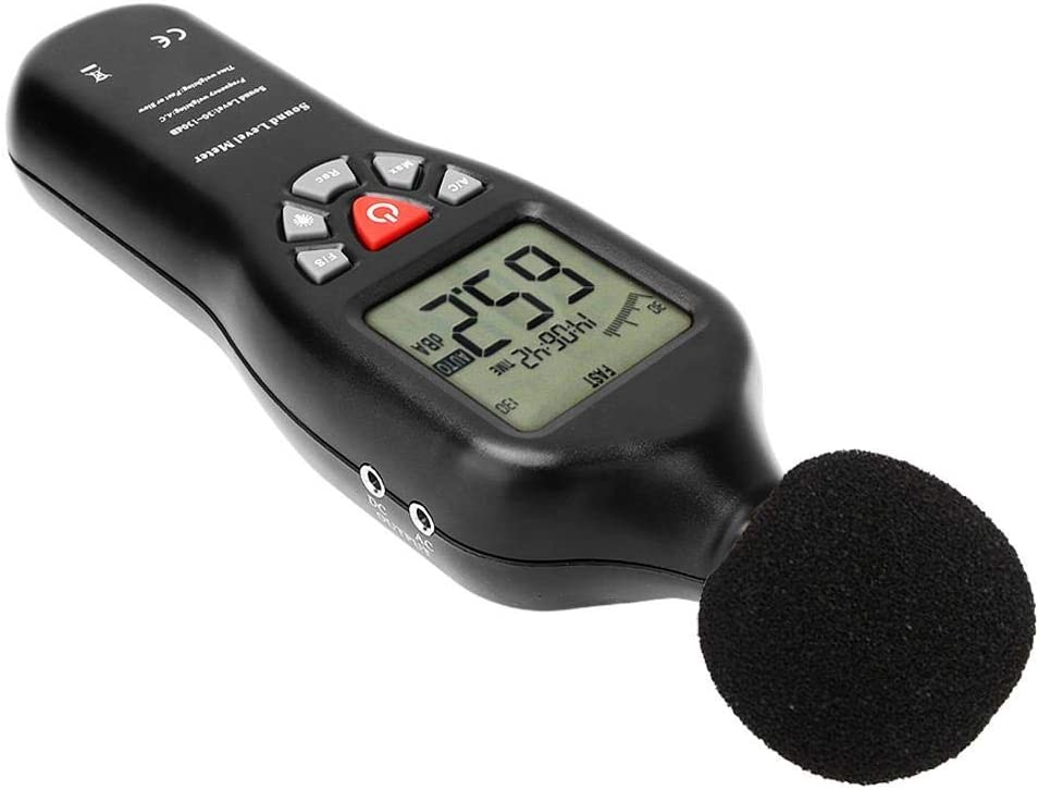 ShiSyan Y-LKUN Sound Level Meter LCD Noise Meter Tester Noise Volume Measuring Instrument Decibel Monitoring Tester with Hold Sound Measure Measuring 30dB-130dB