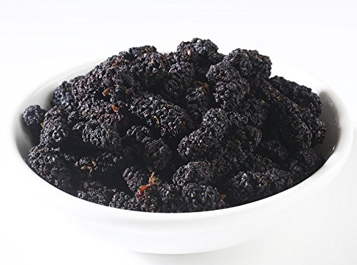 Dried Organic Mulberry, Black, 2 lbs