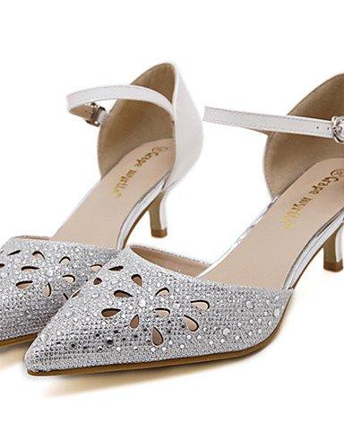 GGX/ Damen-High Heels-Kleid / Party & Festivität-Leder-Stöckelabsatz-Absätze / Komfort / Spitzschuh-Silber / Gold golden-us7.5 / eu38 / uk5.5 / cn38