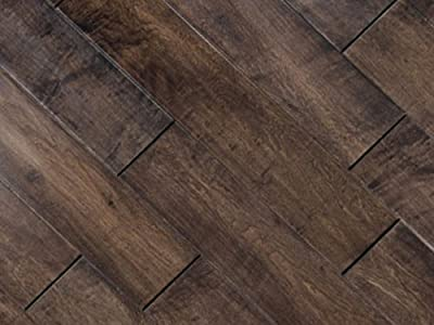 5 inch Greenland Multilayer Distressed Hand-Scraped Hardwood Maple Cherry Spice Flooring