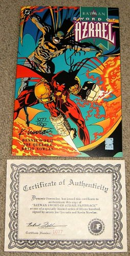 Tpb Signed - Batman Sword of Azrael TPB Signed with Certificate of Authenticity (Collectors Limited Edition of only 1500!)