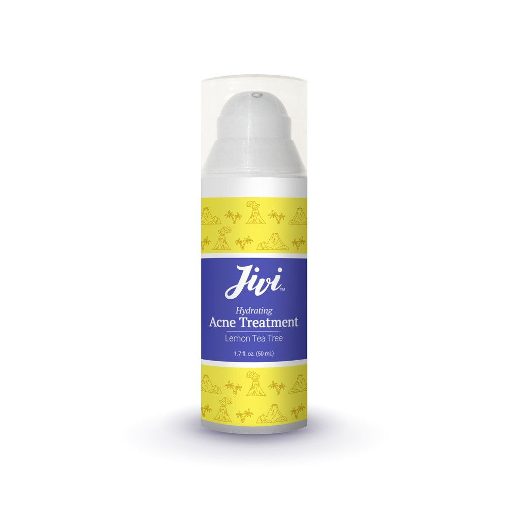 Jivi Hydrating Acne Treatment (Lemon Tea Tree) | Spot Treatment that Eliminates Breakouts and Scarring | 100% Natural with Organic Ingredients | Made for All Skin Types | 1.7 fl. oz. by Jivi