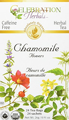 CELEBRATION HERBALS Chamomile Flowers Tea Organic 24 Bag, 0.02 Pound ()