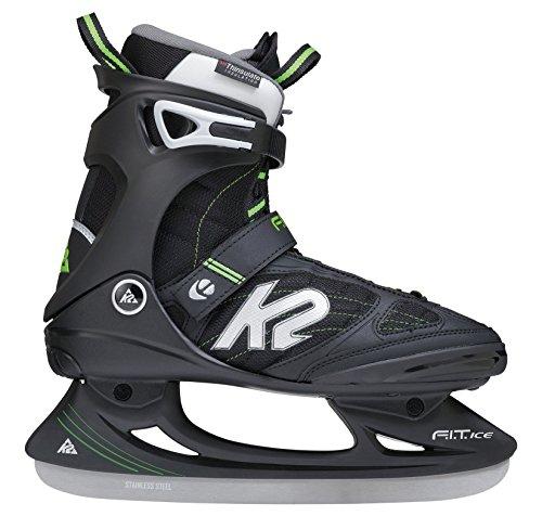 K2 Schlittschuhe Fit Ice Pro Herren Schlittschuhe, Schwarz-Grün, 44 EU (10.5 US), I150300801