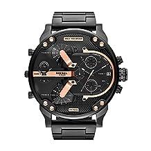 Diesel Men's DZ7312 The Daddies Series Analog Display Analog Quartz Black Watch
