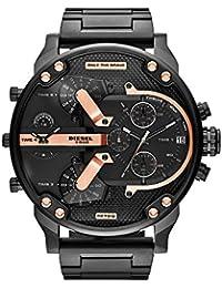 Men's Mr Daddy 2.0 Quartz Stainless Steel Chronograph Watch, Color: Black (Model: DZ7312)