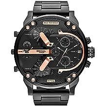Diesel Men's Mr Daddy 2.0 Quartz Stainless Steel Chronograph Watch, Color: Black (Model: DZ7312)