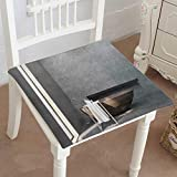 Mikihome Chair Pads Square Cotton Chair Cushion Interior Bathroom with a Narrow Window Wooden tub Concrete Walls Soft Thicken Seat Pads Cushion Pillow for Office,Home or Car 32''x32''x2pcs