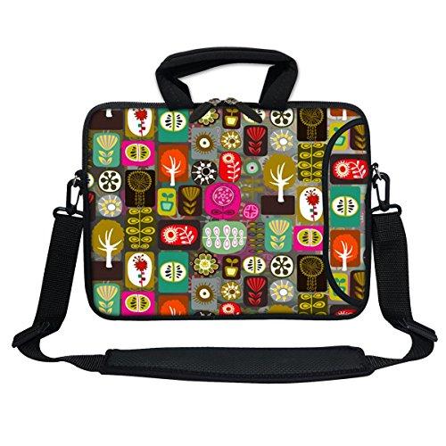 """Meffort Inc 11.6 Inch Neoprene Laptop Bag with Extra Side Pocket, Soft Carrying Handle & Removable Shoulder Strap for 10"""" to 11.6"""" Size Ultrabook Chromebook (Symbol Design)"""