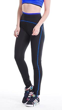 dfff1ab209f0 YR.Lover Damen Schlank Lange Yoga Leggings Workout Fitness Hose ,koenigsblau,S