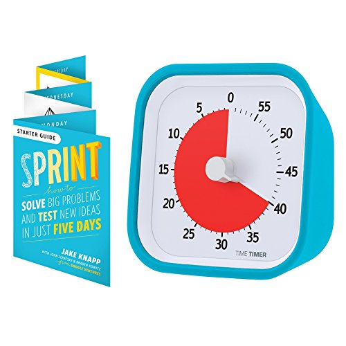 (Time Timer MOD Sprint Edition, 60 Minute Visual Analog Timer, Optional Alert (On/Off), No Loud Ticking; Time Management Tool, Sky Blue )