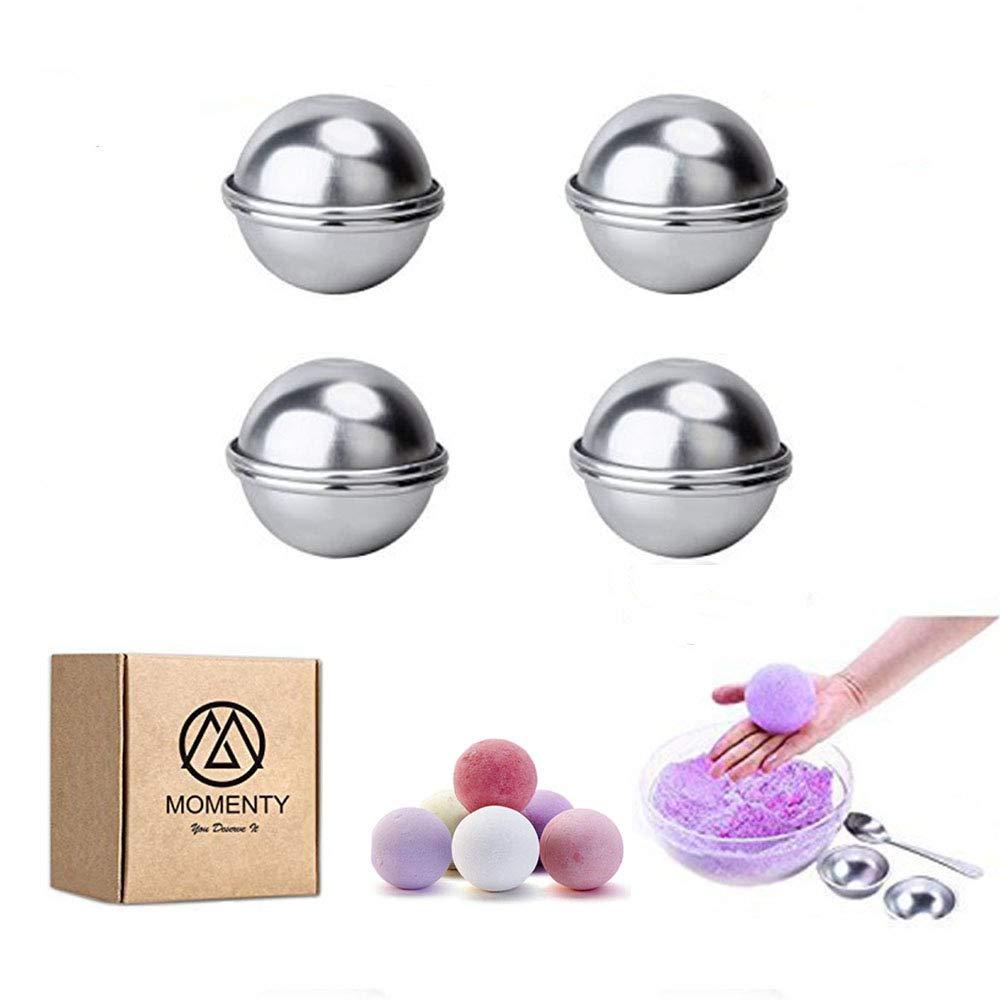 New DIY Kits de metal bombas de baño moldes y suministros, casera redonda esfera formas de lata de bombas, para manualidades, su propio fizzles, 8pcs, ...