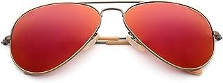Gafas De Sol De Gafas De Sol Clásico Reflector De Color Gafas De Sol Hombre Y Mujer General Gafas De Sol Yurt Bronce LIULIHUA