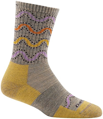 Brown Micro Stripe (Darn Tough Wandering Stripe Micro Crew Light Cushion Sock - Women's Brown Medium)