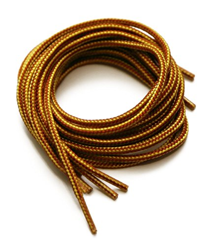Round Shoelace Brown/Yellow 36