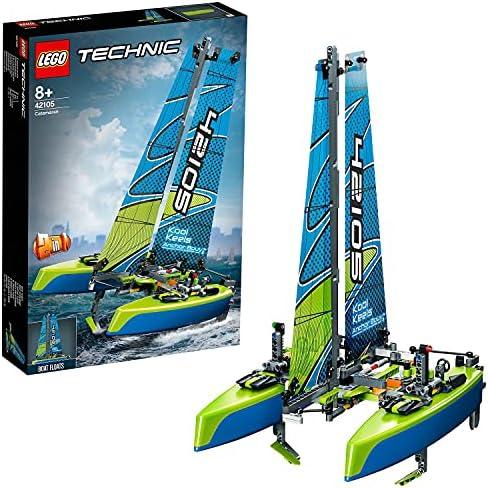 LEGO Technic Catamaran 42105 bouwset catamaran speelgoedzeilboot drijvende speelgoedboot voor kinderen en zeilliefhebbers 404 onderdelen