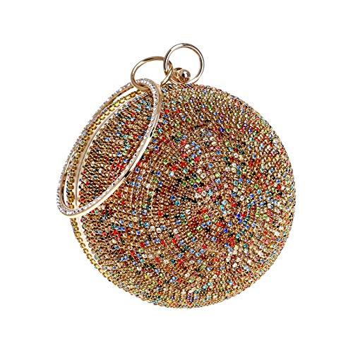 Embrayage Cristal Boule Brillant Forme à Clutch De FêTe Gold1 Diamant Femmes De Pochette Main Mariage Sacs Sac Soirée xFX0qYw