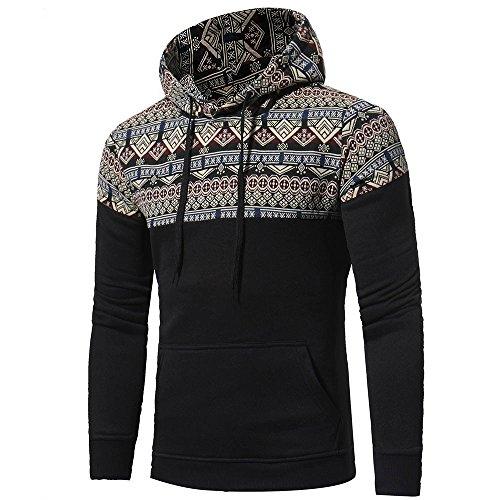 Retro Hoodie for Men Duseedik Long Sleeve Cotton Hooded Sweatshirt Tops Jacket Coat Outwear