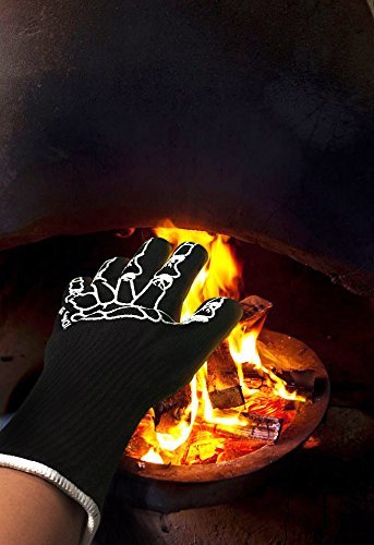 """Heat Guardian Heat Resistant Gloves – Protective Gloves Withstand Heat Up To 932℉ – Use As Oven Mitts, Pot Holders, Heat Resistant Gloves for Grilling – Features 5"""" Cuff for Forearm Protection by Heat Guardian (Image #7)"""