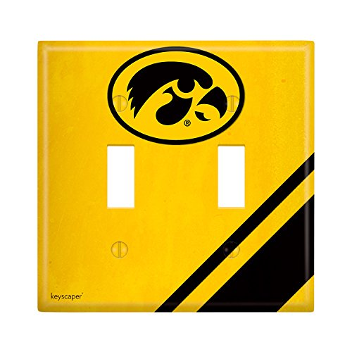 Iowa Hawkeyes Double Toggle Light Switch Cover NCAA